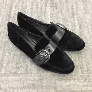 Michael Michael Kors velvet buckle loafers flats